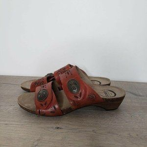 Abeo Bio System Leather Strappy Sandal
